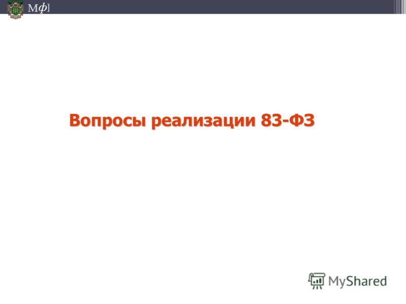 М ] ф Вопросы реализации 83-ФЗ