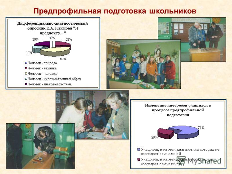 Предпрофильная подготовка школьников