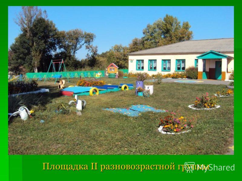 Площадка II разновозрастной группы Площадка II разновозрастной группы