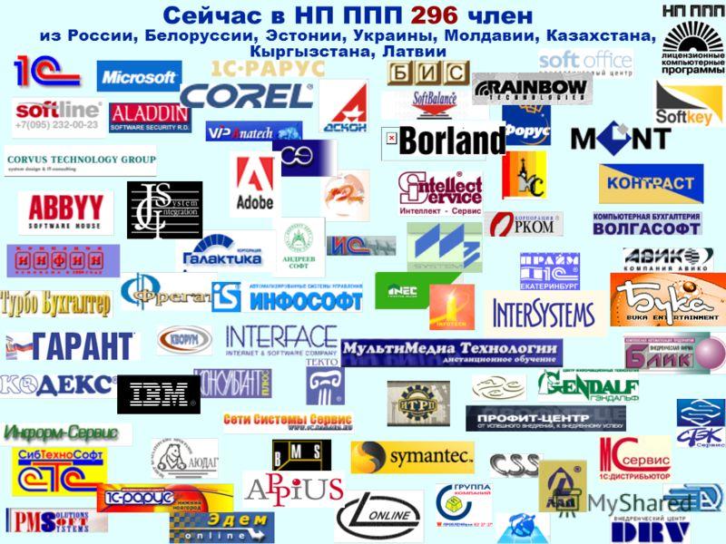 Сейчас в НП ППП 296 член из России, Белоруссии, Эстонии, Украины, Молдавии, Казахстана, Кыргызстана, Латвии