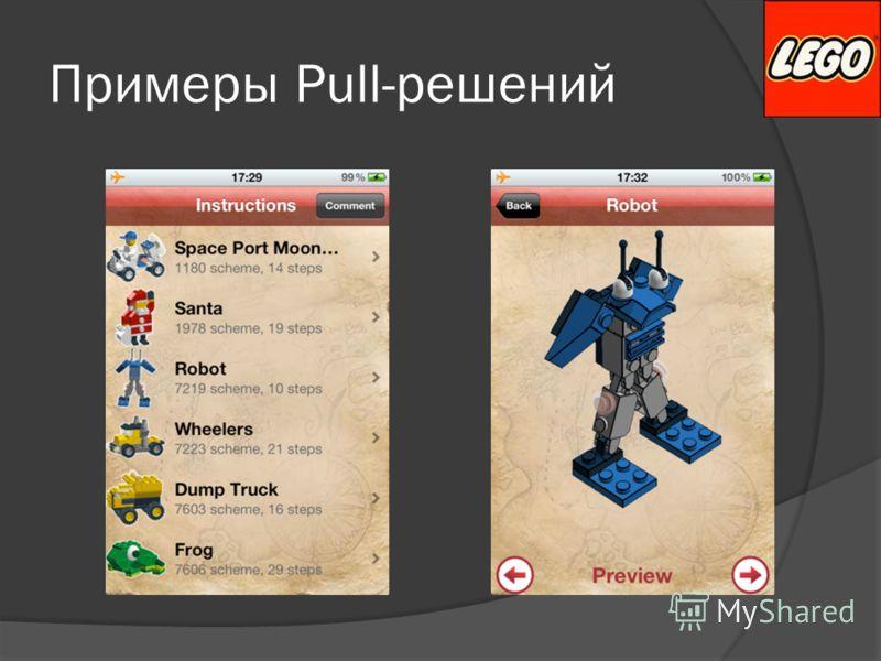 Примеры Pull-решений