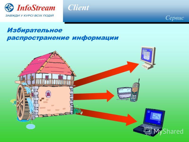 Client Избирательное распространение информации Сервис