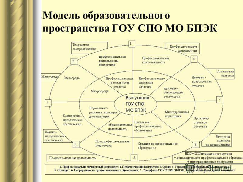 Модель образовательного пространства ГОУ СПО МО БПЭК