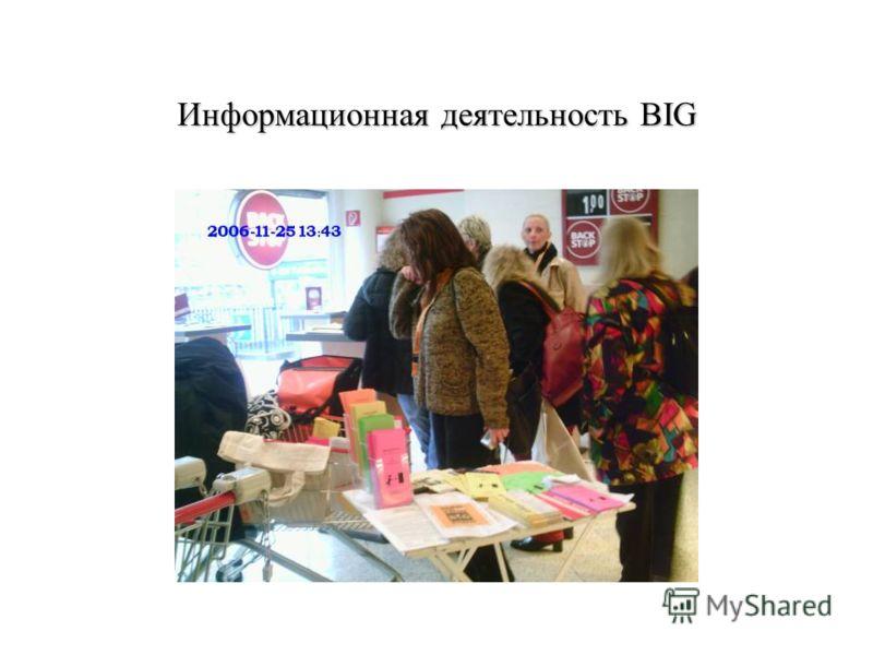 Информационная деятельность BIG