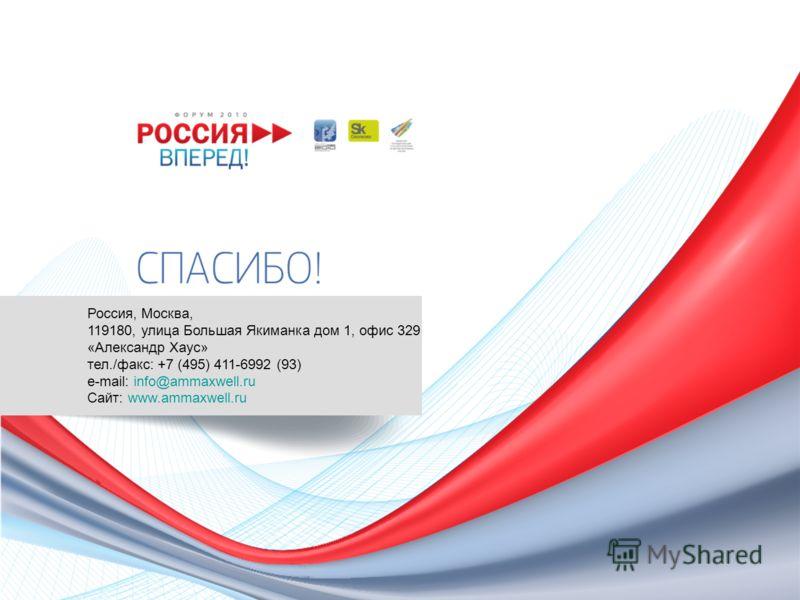 info@ammaxwell.ru Россия, Москва, 119180, улица Большая Якиманка дом 1, офис 329 «Александр Хаус» тел./факс: +7 (495) 411-6992 (93) e-mail: info@ammaxwell.ru Сайт: www.ammaxwell.ru