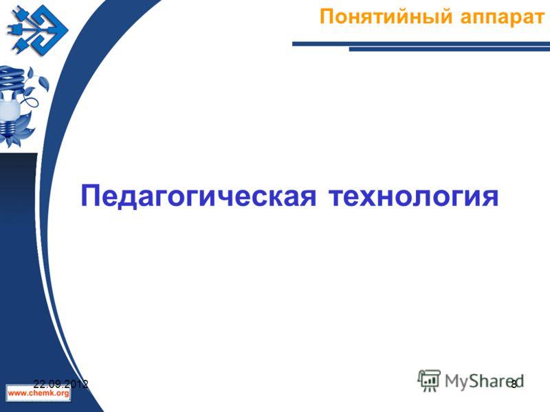 Педагогическая технология Понятийный аппарат 22.09.20128