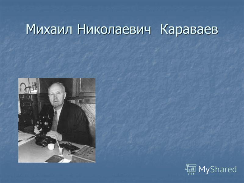 Михаил Николаевич Караваев
