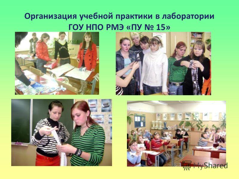 Организация учебной практики в лаборатории ГОУ НПО РМЭ «ПУ 15»