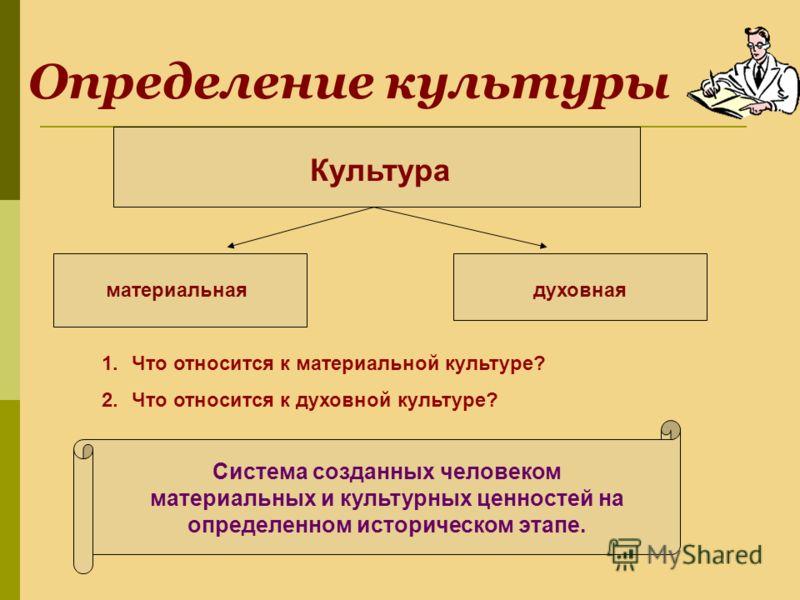 Презентация на тему Культура Древней Руси Урок истории в  2 Определение культуры Культура материальнаядуховная