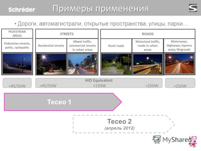 Примеры применения Teceo 1 Teceo 2 (апрель 2012) Дороги, автомагистрали, открытые пространства, улицы, парки…