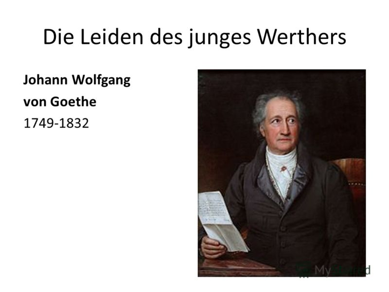 Die Leiden des junges Werthers Johann Wolfgang von Goethe 1749-1832