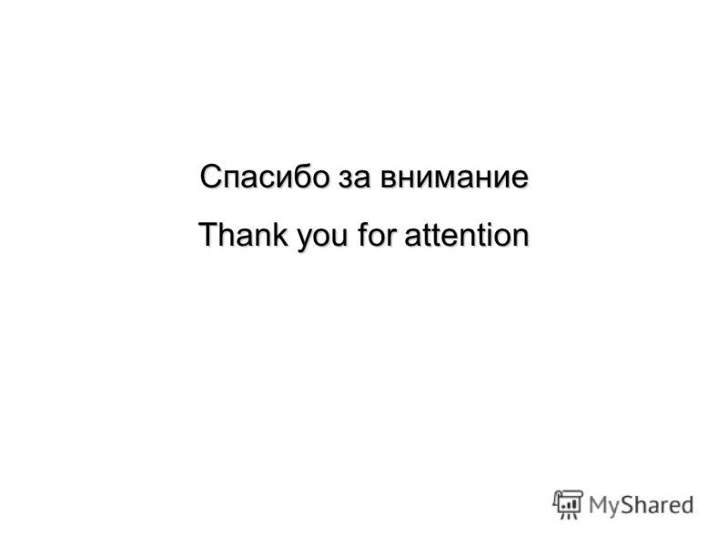 Спасибо за внимание Thank you for attention