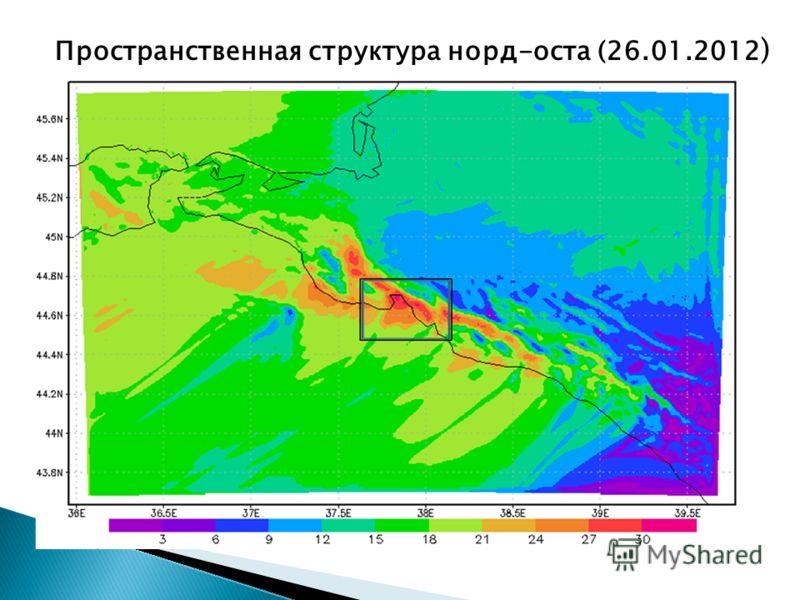 Пространственная структура норд-оста (26.01.2012 )