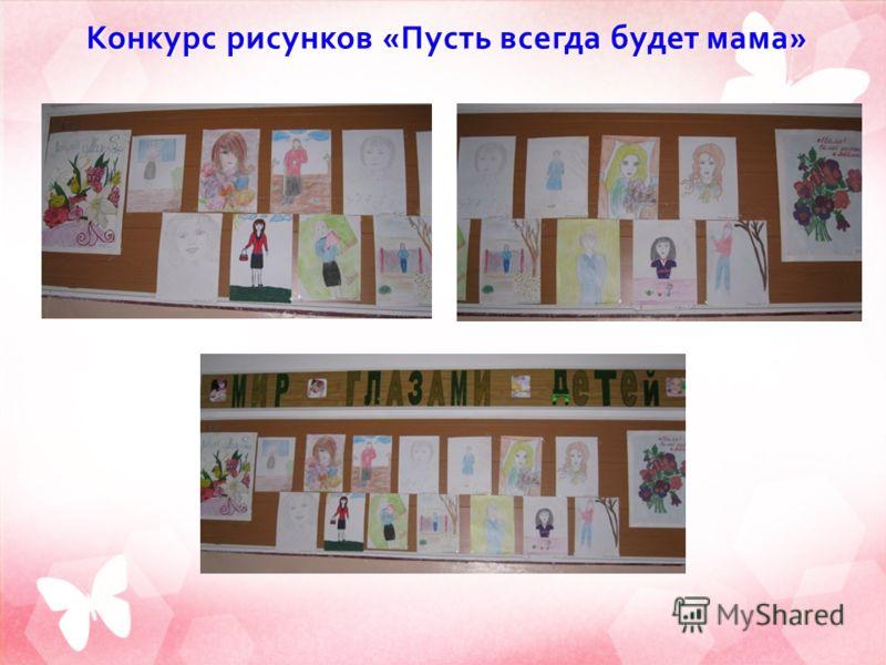 Конкурс рисунков « Пусть всегда будет мама »