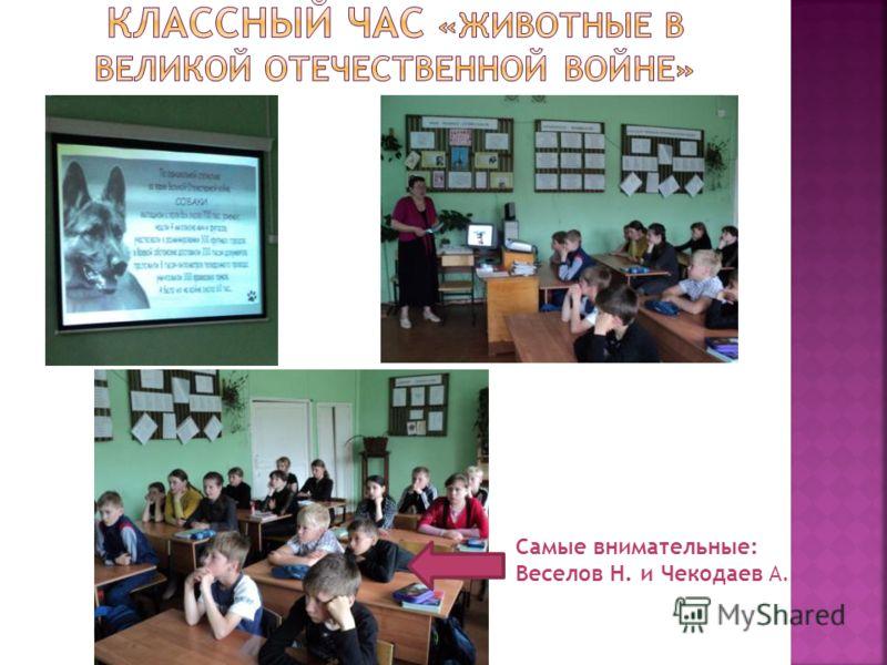 Самые внимательные: Веселов Н. и Чекодаев А.