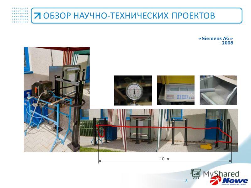 +++++++++ +++++++++ +++++++++ 8 ОБЗОР НАУЧНО-ТЕХНИЧЕСКИХ ПРОЕКТОВ 10 m «Siemens AG» - 2008