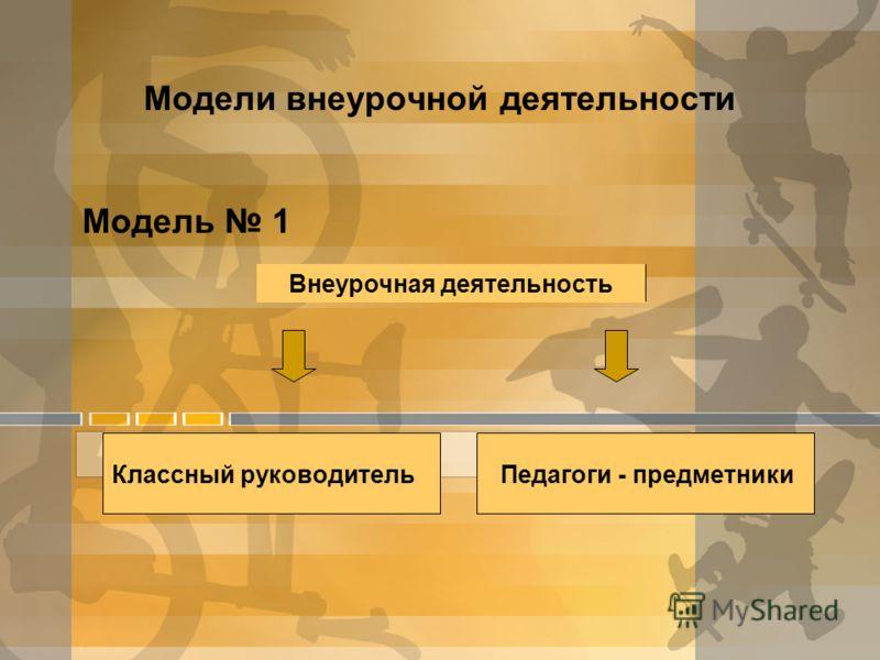 Модели внеурочной деятельности Модель 1 Внеурочная деятельность Классный руководительПедагоги - предметники