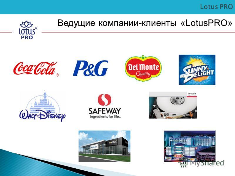 Ведущие компании-клиенты «LotusPRO»