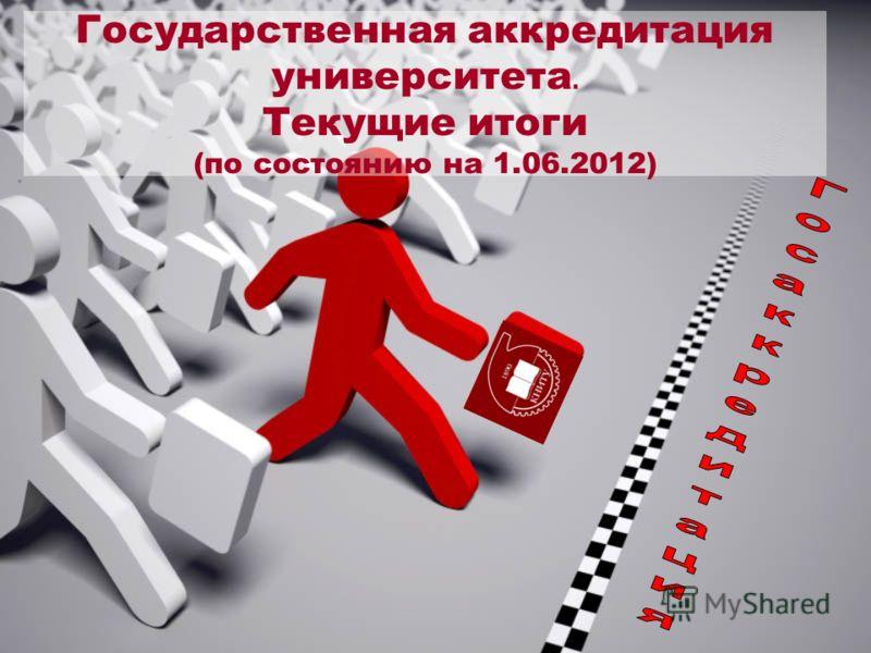 Государственная аккредитация университета. Текущие итоги (по состоянию на 1.06.2012)