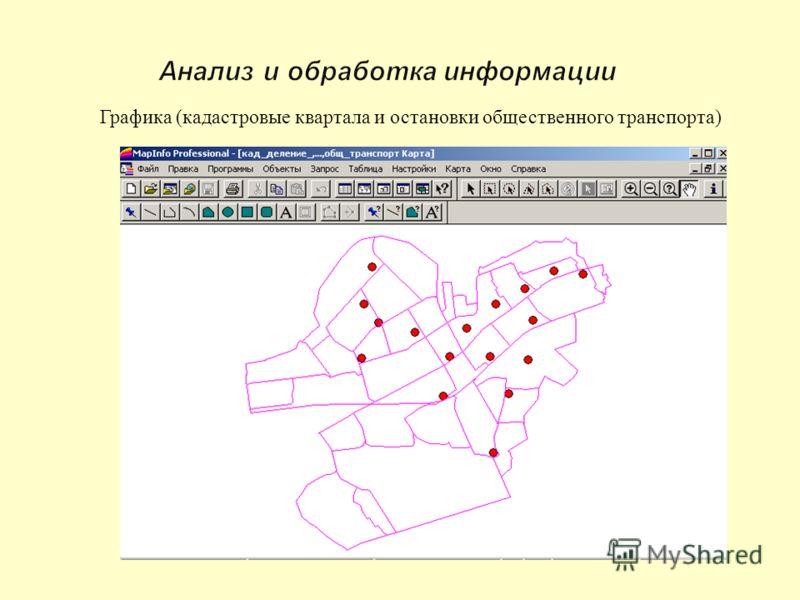 Графика ( кадастровые квартала и остановки общественного транспорта )