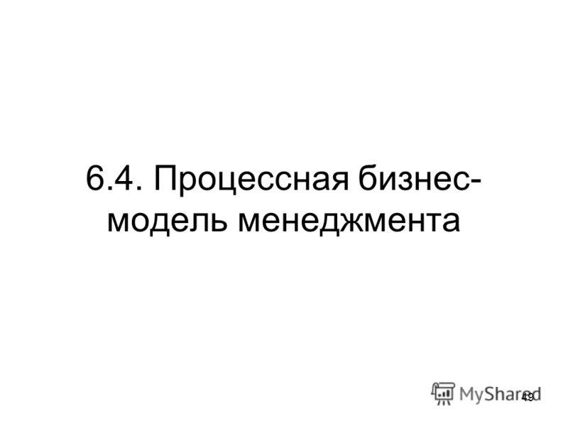 6.4. Процессная бизнес- модель менеджмента 49