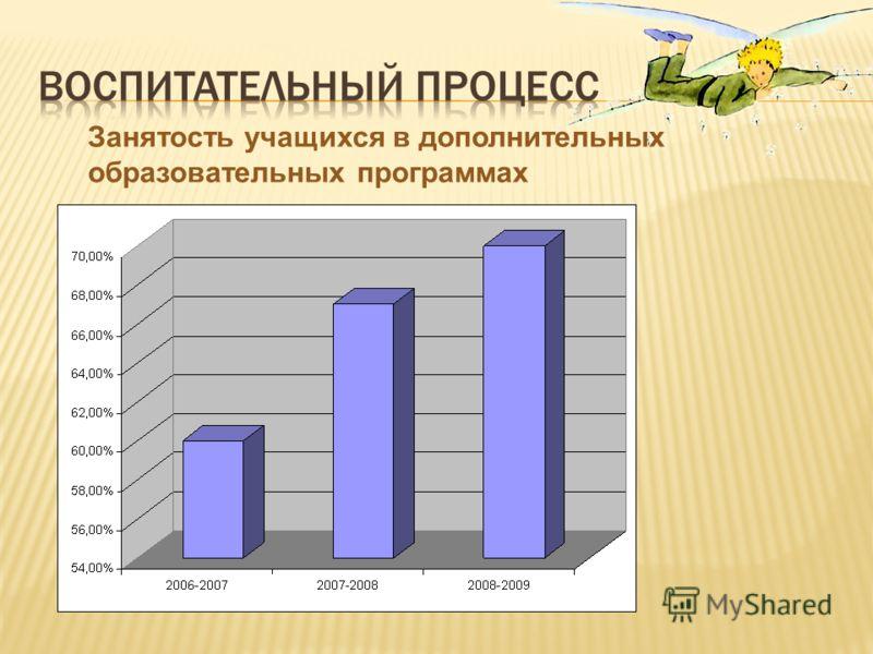 Занятость учащихся в дополнительных образовательных программах