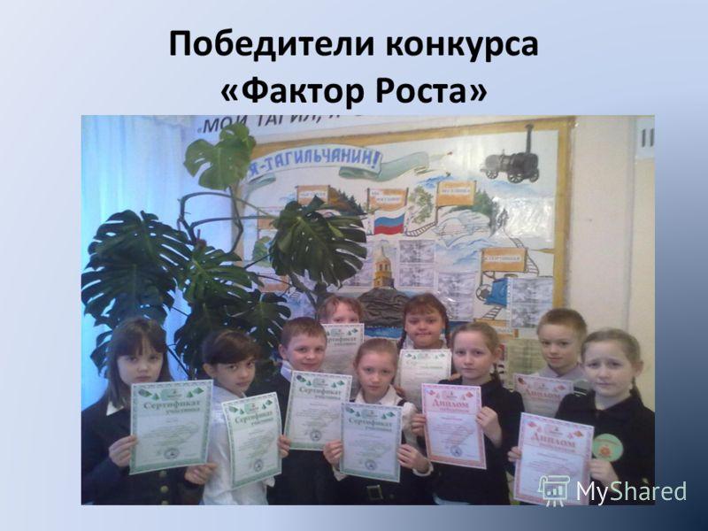 Победители конкурса «Фактор Роста»