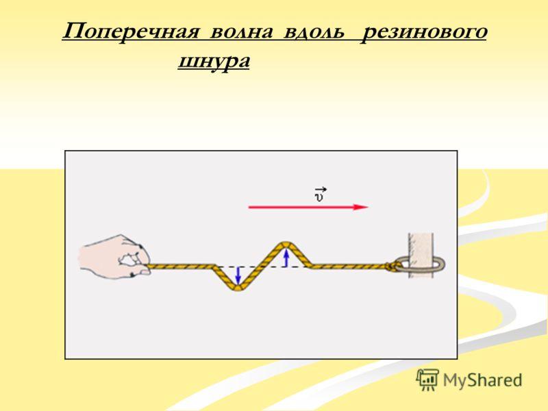 Поперечная волна вдоль резинового шнура
