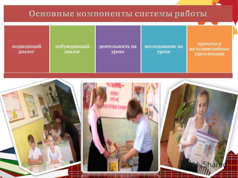подводящий диалог побуждающий диалог деятельность на уроке исследование на уроке проекты и мультимедийные презентации