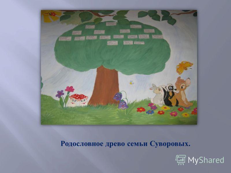 Родословное древо семьи Суворовых.
