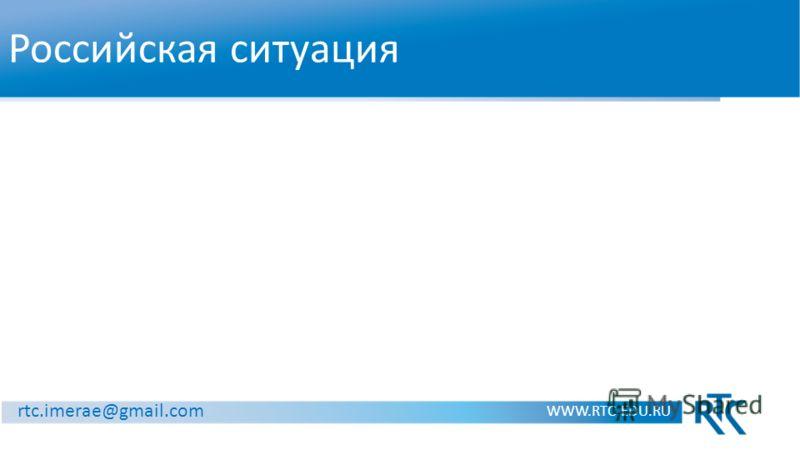 Российская ситуация WWW.RTC-EDU.RU rtc.imerae@gmail.com