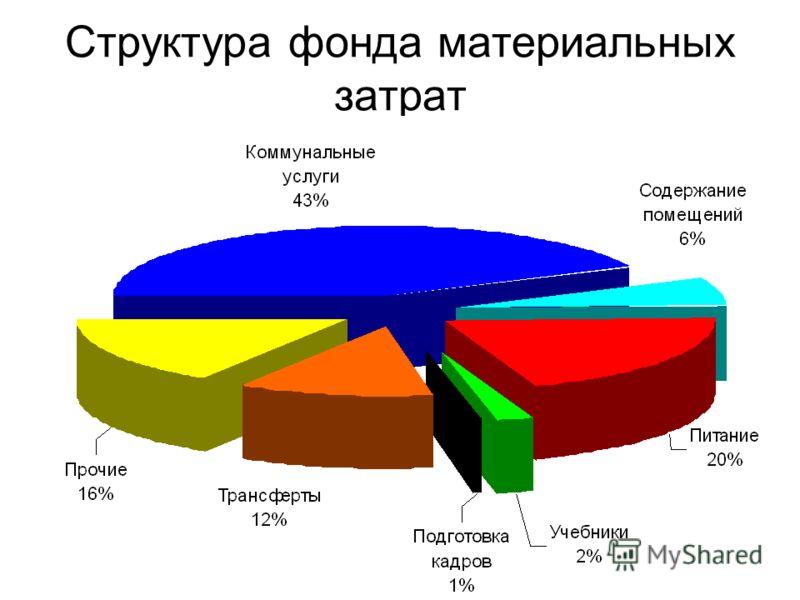 Структура фонда материальных затрат