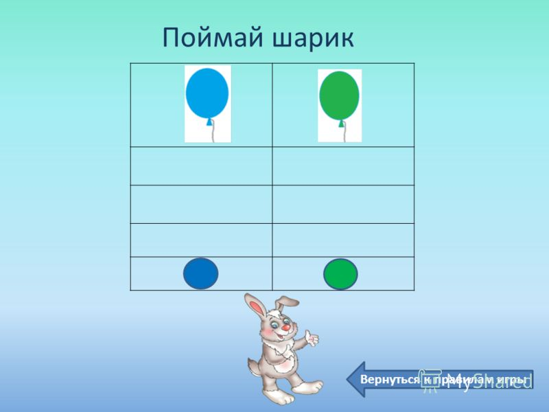 Поймай шарик Вернуться к правилам игры