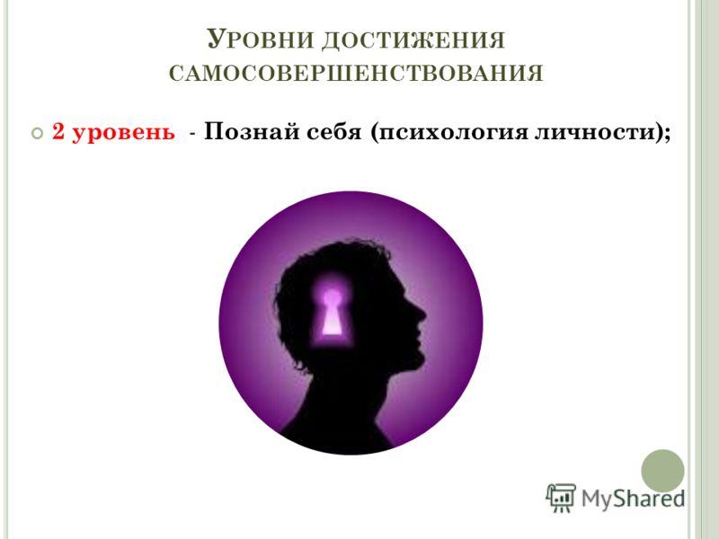 У РОВНИ ДОСТИЖЕНИЯ САМОСОВЕРШЕНСТВОВАНИЯ 2 уровень - Познай себя (психология личности);