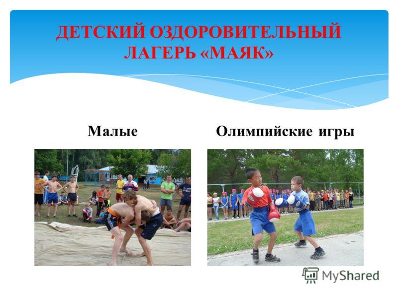 ДЕТСКИЙ ОЗДОРОВИТЕЛЬНЫЙ ЛАГЕРЬ «МАЯК» МалыеОлимпийские игры