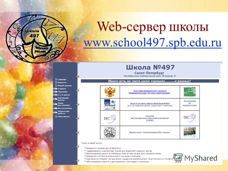 Web-сервер школы www.school497.spb.edu.ru www.school497.spb.edu.ru