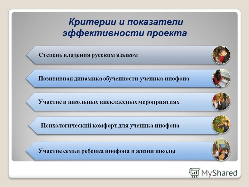 Критерии и показатели эффективности проекта