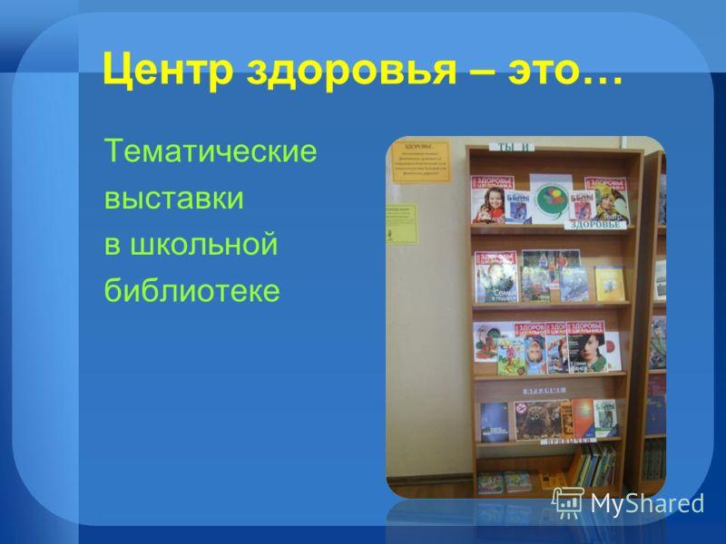 Центр здоровья – это… Тематические выставки в школьной библиотеке