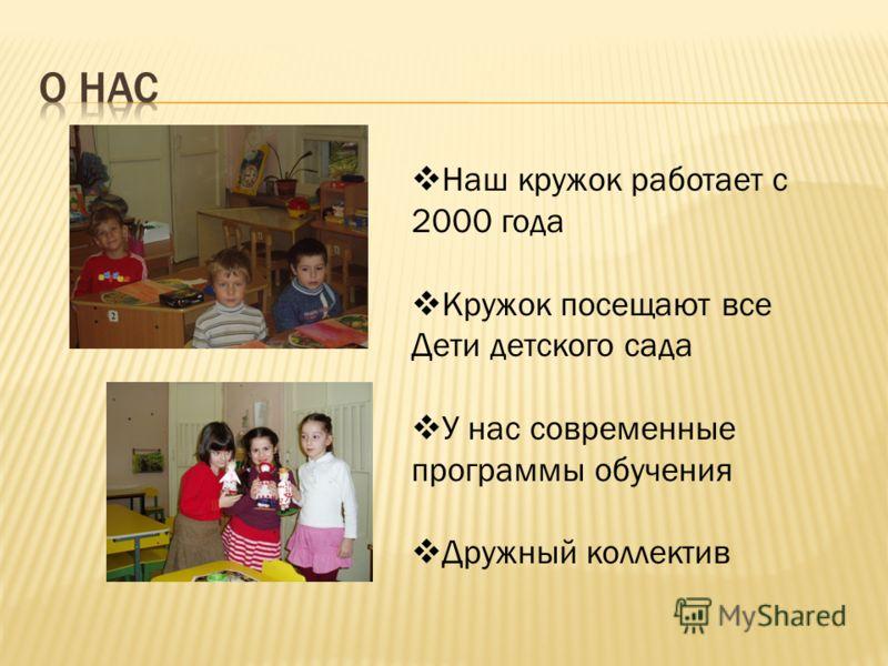 Программа для кружка по аппликации для детского сада