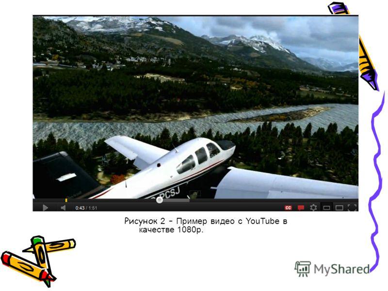 Рисунок 2 – Пример видео с YouTube в качестве 1080p.