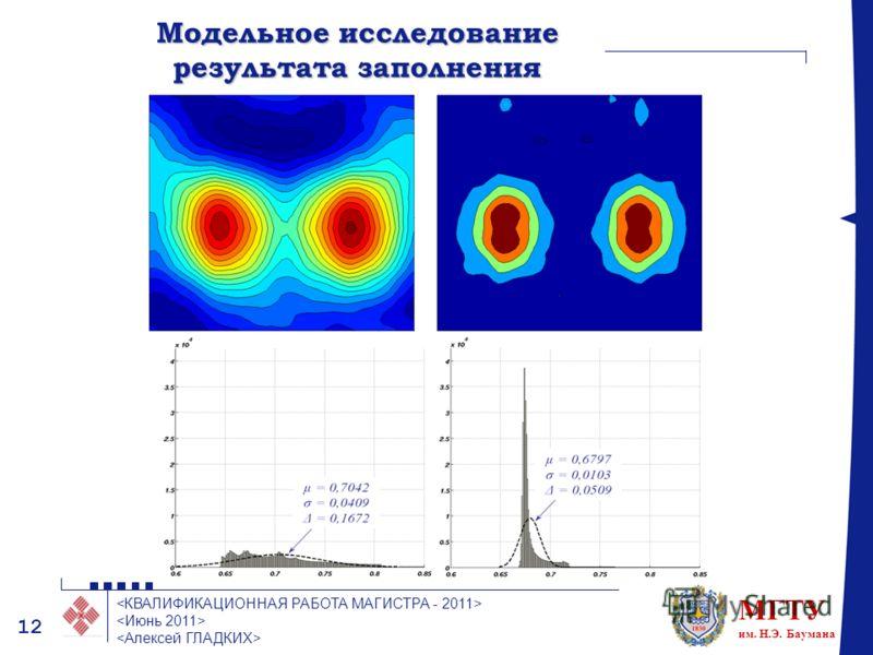 МГТУ им. Н.Э. Баумана 12 Модельное исследование результата заполнения