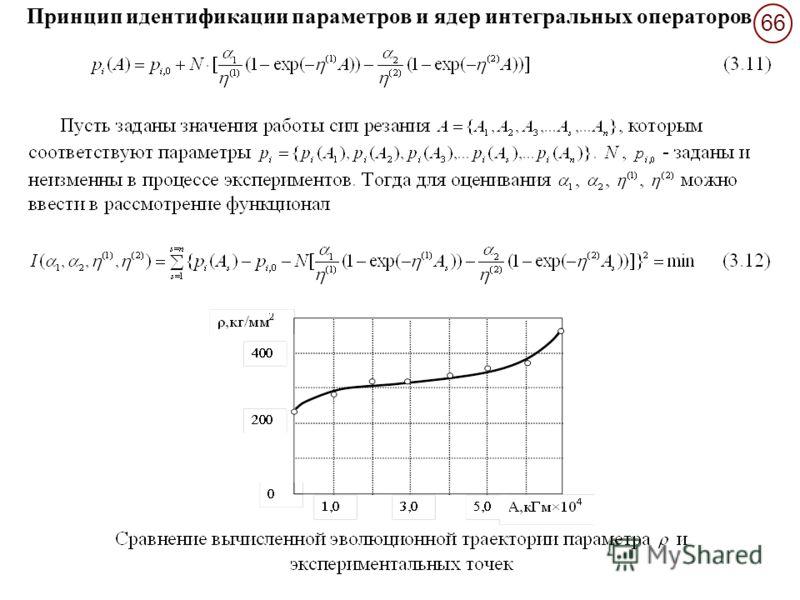 66 Принцип идентификации параметров и ядер интегральных операторов