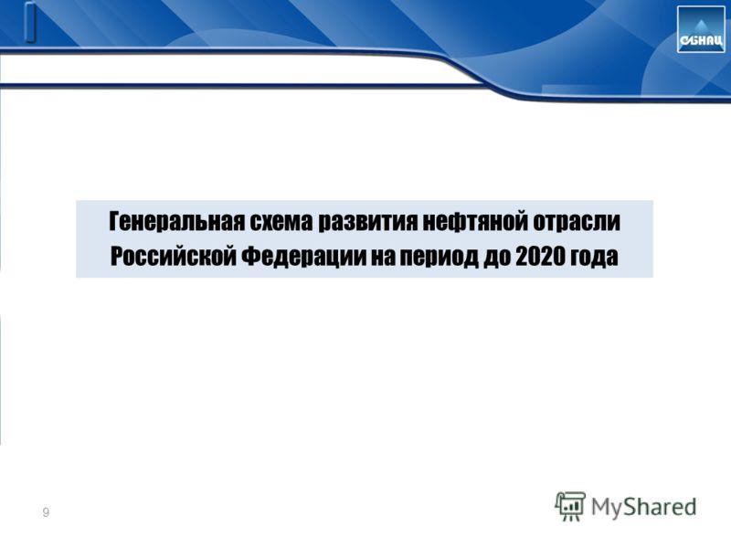 9 Генеральная схема развития нефтяной отрасли Российской Федерации на период до 2020 года