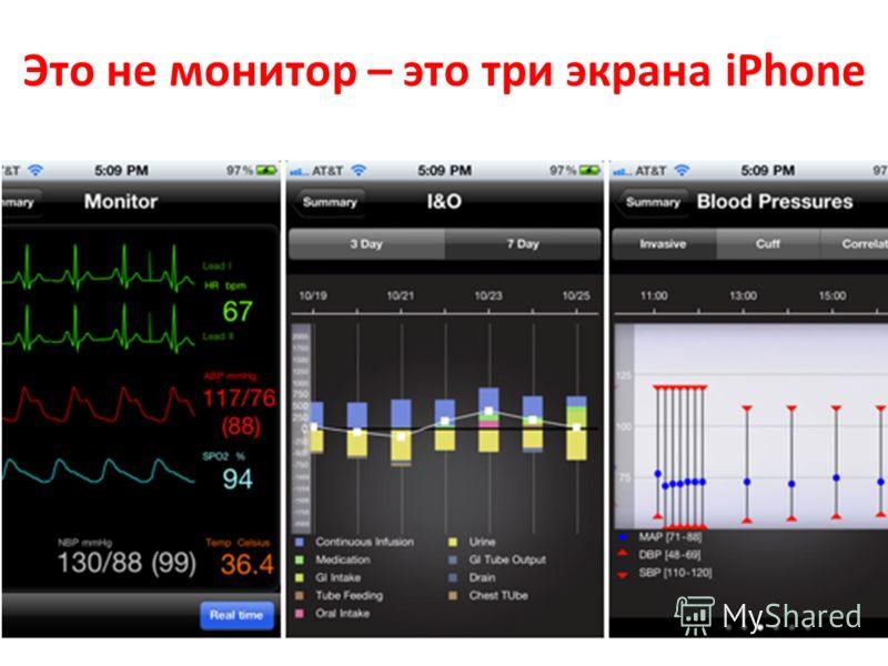 Это не монитор – это три экрана iPhone