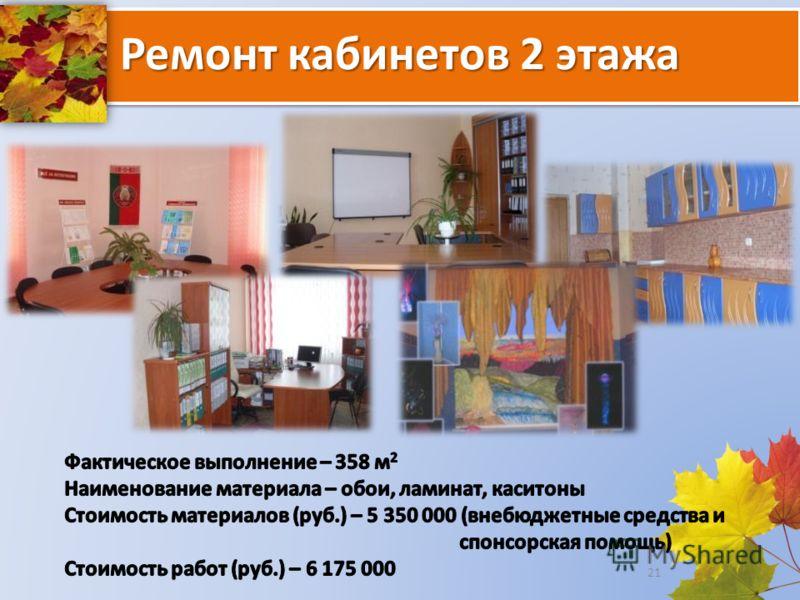 Ремонт кабинетов 2 этажа 21
