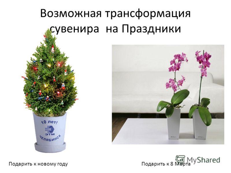 Возможная трансформация сувенира на Праздники Подарить к новому годуПодарить к 8 Марта