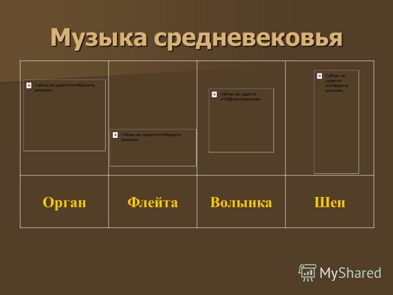 Музыка средневековья ОрганФлейтаВолынкаШен