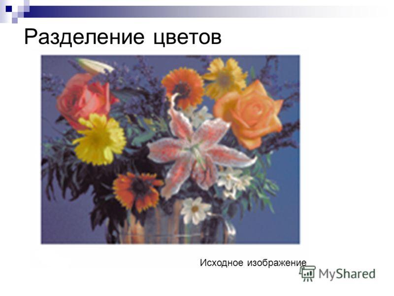 Разделение цветов Исходное изображение