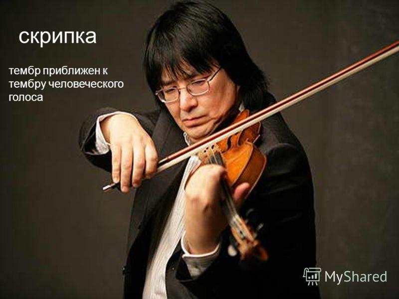 скрипка тембр приближен к тембру человеческого голоса