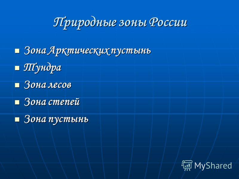 Окружающий мир. Тема «Природные зоны России» 4 класс Беспалова Л.В.